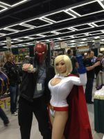 Red Hood and Powergirl by statenjp