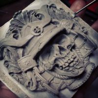 Samurai buckle sculpture WIP part 2 by fourspeedindonesia