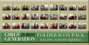 SNSD The Best Folder Icon Pack 2 by Rizzie23