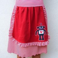 Love Robot Apron Skirt by 231705