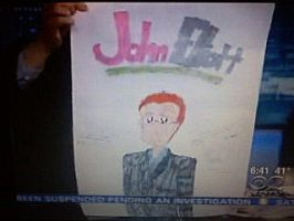 John Elliot With My Drawing by SailorMoon190