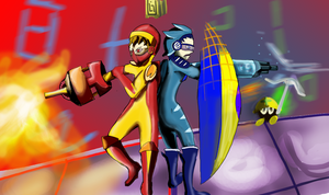 Battle Network Bash Brothers by horyokun