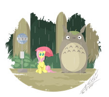 Flutters and Totoro by Natsu714