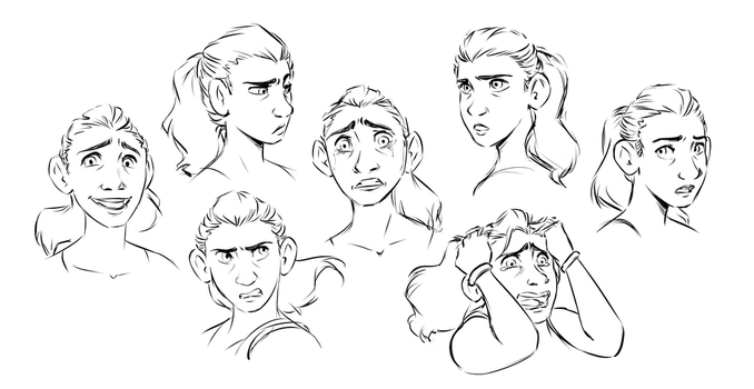 Amber Expressions by Sketchderps