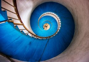 Blue Stairs by Initio