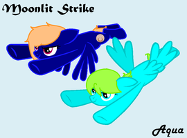 Moonlit Strike and Aqua by LillaBloom