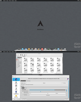 Arch KDE BE::SHELL Back to Cairo-Dock by CraazyT