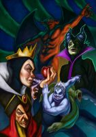 Disney Villains by Deputee