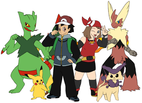 Pokemon 10 Years Later - Ash and May by Gaiash