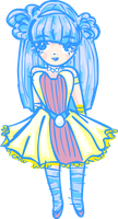 Shiny, Shiny Blue Haired Girl by MeganTheartist