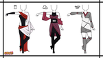Naruto Adoptable Outfit Set 7 - Closed by Orangenbluete