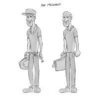 Mechanic Character design concept by PatrickRyant