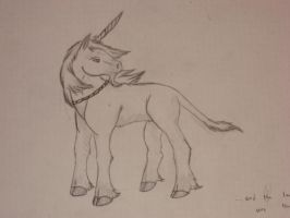 Unicorn Sketch by DreamGalvin