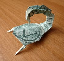 Dollar Bill Scorpion by craigfoldsfives