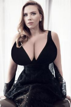 Scarlett Johansson Breast Expansion (Request) by TFLOVER28
