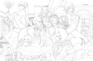 WIP Pajama Party by Roumea