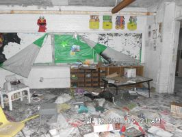Cluttered Classroom.. by Darthbane2007