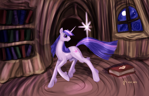 Twilight Sparkle is casts a spell by Dalagar