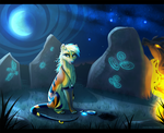 Shot at the Night [speedpaint] by JaylacineChiboa