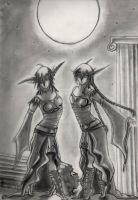 Dancing Twins - For AvannTeth by Winged-warrior