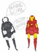 MAKE LOVE NOT WAR by MANeatingCLOTHES