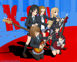 K-ON wallpaper in MMD style by marvyanaka