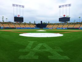 Inside Dodger Stadium by Champo