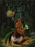 Squirrel Mage by pseudobiotic