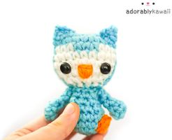 Blue Tiny Owl Plush 2 by adorablykawaii