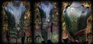 Elf leather armor by Feral-Workshop