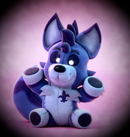 Commission: Plushy Blue Wolf! by SmashingRenders
