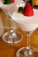 Strawberry Milk Pudding by Chilllyblahblah