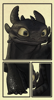 Toothless - close-up by Fenchan