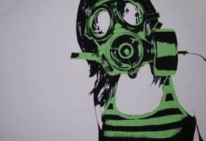 girl in the gas mask by zachcherry
