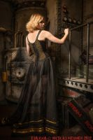 Black corset overbust dress 2012 collection ' by Esaikha