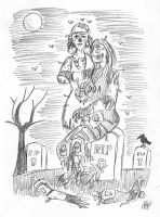 Roller Derby Zombies: Pencil by EmperorNortonII