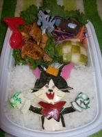 Cait Sith Bento by chocobo-kisses