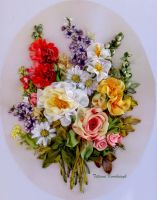 Spring, embroidered picture by TetianaKorobeinyk