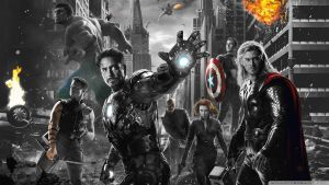 Photoshop Colour Splash Test - Avengers by BoltandVulpix
