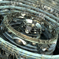 bulb-cut by waveIFS - Mandelbulb3D with Parameter by matze2001