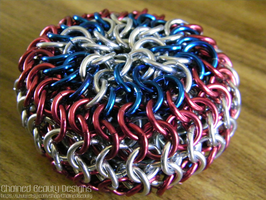 'Merica Chainmaille Footbag by ChainedBeauty