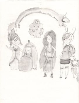 Adventure Time Females (Improved) by CuppyCakesRock
