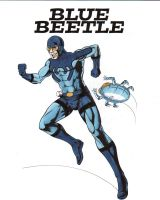 ~~~ Blue Beetle, Ted Kord- Color ~~~ by FnkNY