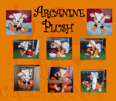 Arcanine medium size plush by WolfPink