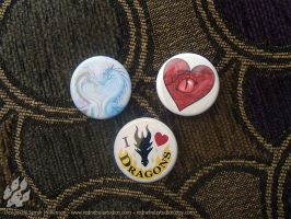 Dragon Love Pinback Buttons by Nightlyre