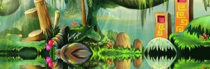 Jungle tranquility animated by FadwaAngela