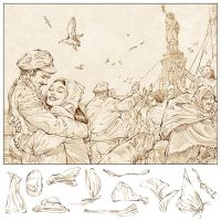 Ellis Island - pencils by TamasGaspar