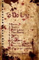 A Zombie's to do List by Stock7000