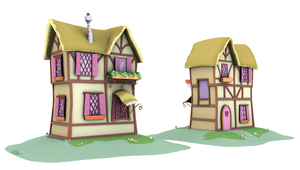 Ponyville Model - Bridged_B (Game/Animation) by discopears