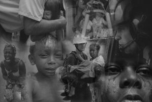 Hurricane Katrina Collage by StrangeEyeAm